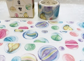 glass ball washi tape, 7M x 3cm crystal ball ornaments colorful ball deco masking tape, watercolor ball super wide tape sticker tape gift