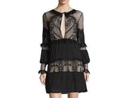 Few Moda Capri Tiered Self-Tie Dress, Black                     (NOW   $39.60 BEFORE  $190.00