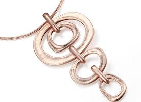 Circular Link Drop Necklace Set