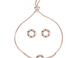 Mini Hearts Around Slider Bracelet