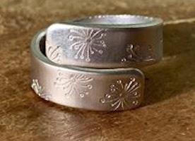 Custom wide wrap ring