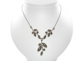 """Silver Necklace with Natural Baltic Amber """"Flawless III"""""""