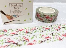 singing birds washi masking tape 10M cute bird little bird red bird green tree deco tape sticker bird decor planner tape gift scrapbook