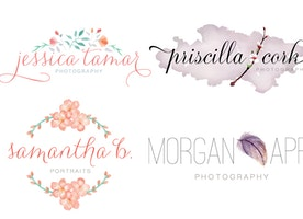 Draw Hand Drawn Feminine Watercolor Logo