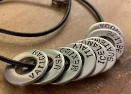 Custom Traveler necklace
