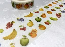 Fruit washi tape 10M mixed fruit strawberry peach grapes orange masking tape yummy fruit party deco sticker tape gift wrapping tape