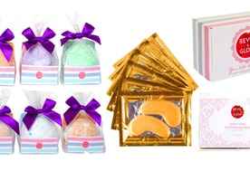Luscious Bath Bombs and Under Eye Masks Gift Set (Only available in USA for now)