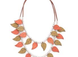 Colourful Leaves Neckalce Set