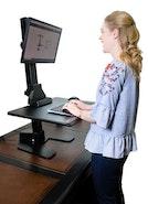 Ergonomic Sit-Stand Computer Work Desk
