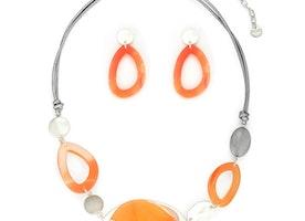 Necklace Set - Orange