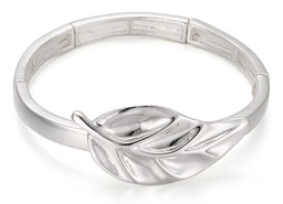 Leaf Stretch Bracelet - Silver