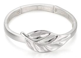 Leaf Stretch Bracelet - Silver