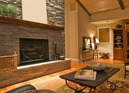 Add stone veneer to your interior and your fireplace