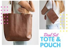 Leather Bag + Tote Set // 🎈 November Deal🎈