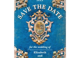 Vintage Save The Date Card