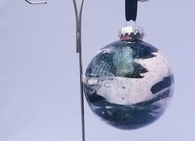 Glitter Two Tone Swirl Ornament
