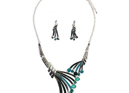 Branch Necklace Set - Turquoise