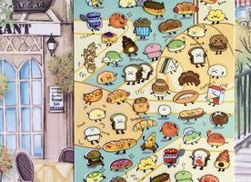 Cute Bread Bakery Fun Stickers
