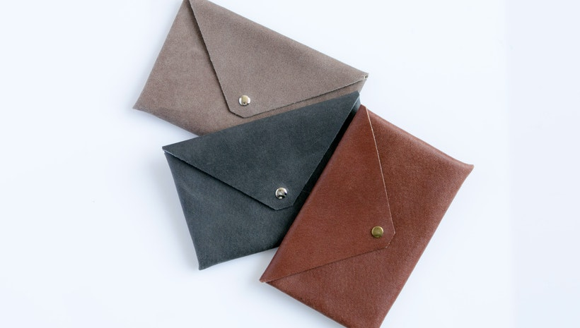 **Leather Envelope Clutch**
