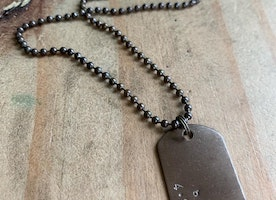 custom small dog tag ball chain necklace