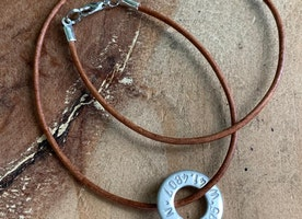 custom coordinate washer necklace