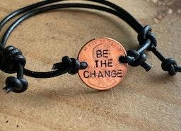 custom penny adjustable bracelet
