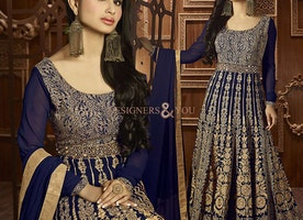 Party Wear Designer Anarkali Suits With Pretty Patterns For Mod Lady By Designersandyou