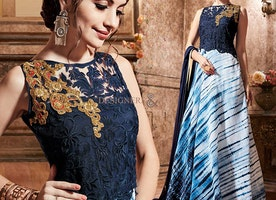 Stylish Designer Indo Western Gown Online India For Wedding Party By Designersandyou