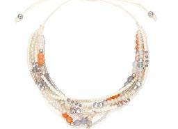 Beads Slider Bracelet - White
