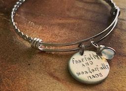 Custom bangle charm bracelet