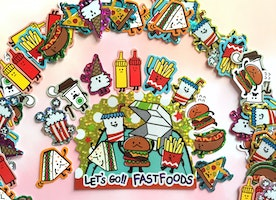 71 FOOD stickers fast food junk food hotdog coffee Brunch lunch food label sticker yummy cartoon food cooking planner sticker food party