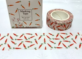 carrot washi tape 10M orange vegetable cartoon carrot sticker tape cute veggie masking tape cute tape scrapbook