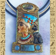 Egyptian Queen Nefertiti necklace