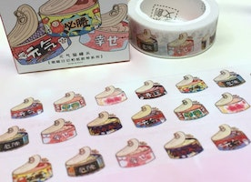 cat food washi tape 7M tin can cat snacks cute food masking tape cat theme cat party decor sticker tape cat planner cat diary tape gift