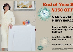 Save $350 on a Hydrotherapy Walk-in Tub!