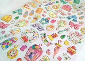 princess stuff sticker dressing up fancy dressing room shoes umbrella mirror cosmetic little girl dress up games little girl party gift