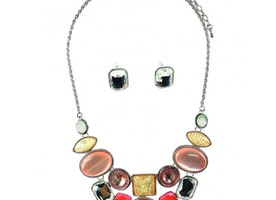 Funky Candy Mix Necklace Set - Pink