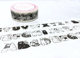 animal alphabet washi tape 7m x 1.5cm nursery Alphabet zoo animal alphabet masking tape ABC learning letter game deco sticker English decor