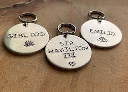custom small dog/cat id tags