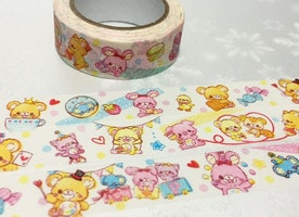 kawaii animal washi tape 15M x 1.5cm teddy bear rabbit little pig piggy cute animal sticker tape kids party card decor diary planner sticker