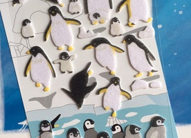Emperor penguin king Penguin sticker Arctic south pole animal baby penguin antarctic kawaii little penguin felt sticker penguin theme gift