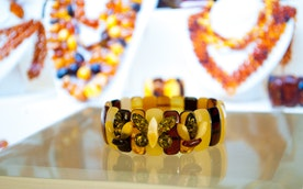 "Natural Baltic Amber Bracelet ""Butterfly"""