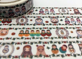 Matryoshka washi tape 5M Nesting doll colorful traditional folk doll washi tape mini doll sticker tape deco masking tape planner decor gift