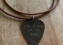 Custom guitar pick necklaces