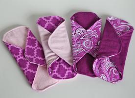 "6"" purple panty liners"