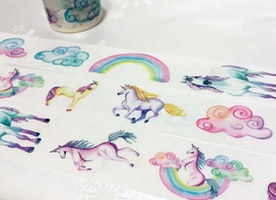Princess horse washi tape 5M x 3cm fairy tale unicorn horse masking tape wonderland colorful cloud sticker tape pink tape gift decor
