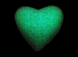 Glowing Heart of Ice Bath Bomb Set