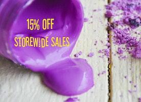 15% storewide sale