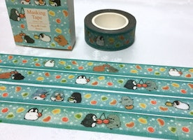 penguin washi tape 10M walking penguin cute penguin fat penguin masking tape kid party invitation penguin theme planner diary scrapbook