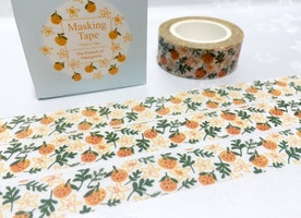 orange fruit washi tape 10M tangerine mandarin clementine Fruit deco masking tape yummy fruit party deco sticker tape scrapbook gift